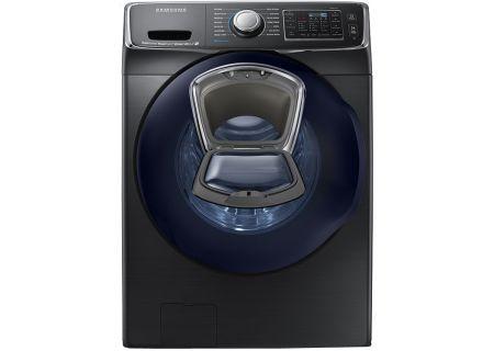 Samsung Fingerprint Resistant Black Stainless Steel Front Load Steam Washer - WF50K7500AV