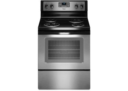 """Whirlpool 30"""" Stainless Steel Freestanding Electric Range - WFC310S0AS"""