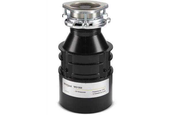Whirlpool Black 1/2 HP In-Sink Garbage Disposal - WG1202XH