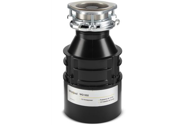 Large image of Whirlpool Black 1/2 HP In-Sink Garbage Disposal - WG1202XH