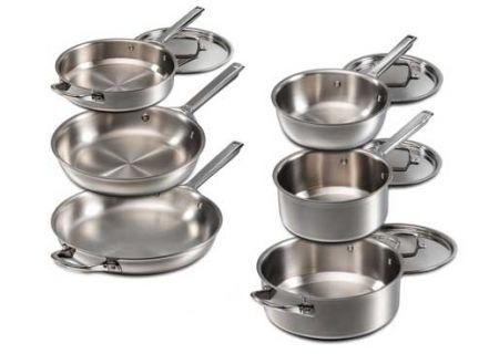 Wolf Gourmet 10 Piece Stainless Steel Cookware Set  - WGCW100S