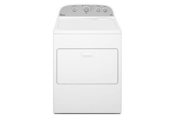 Whirlpool 7.0 Cu. Ft. White High Efficiency Gas Dryer - WGD5000DW