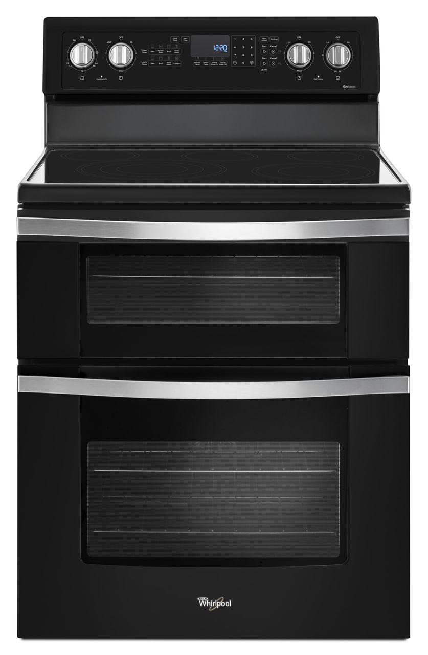 Whirlpool Black Electric Double Oven Range Wge745c0fe