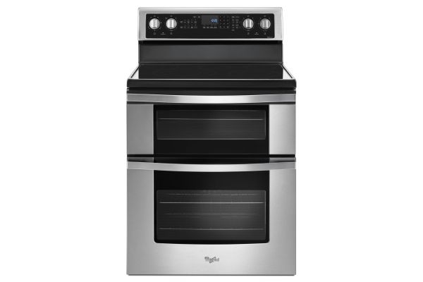Large image of Whirlpool 6.7 Cu. Ft. Stainless Steel Electric Double Oven Range - WGE745C0FS