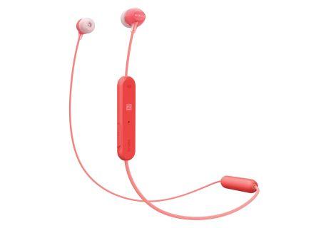 Sony - WIC300/R - Earbuds & In-Ear Headphones