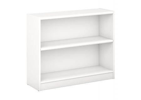 Bush Furniture Universal 2-Shelf White Bookcase  - WL12413-03