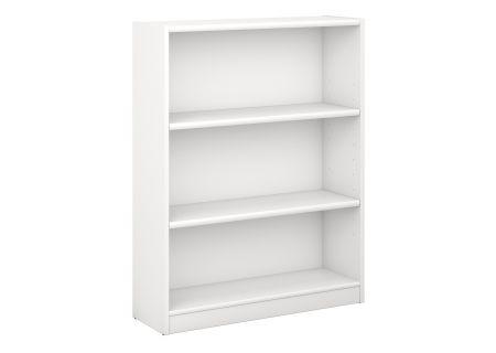 Bush Furniture Universal 3-Shelf White Bookcase  - WL12414-03