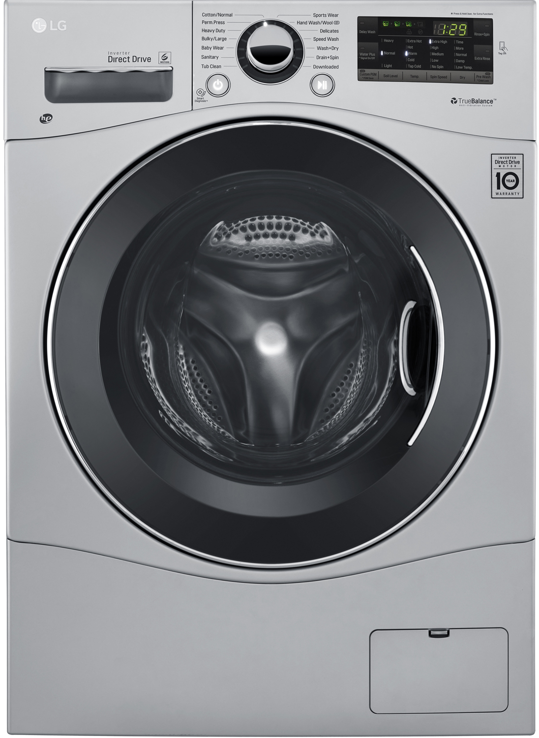 Lg Silver All In One Washer And Dryer Combo Wm3488hs