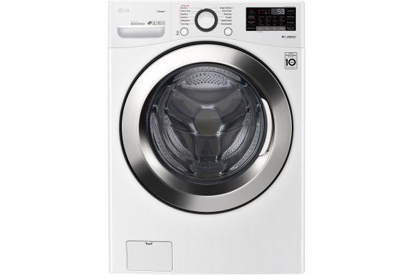 LG White Front Load Steam Washer - WM3700HWA