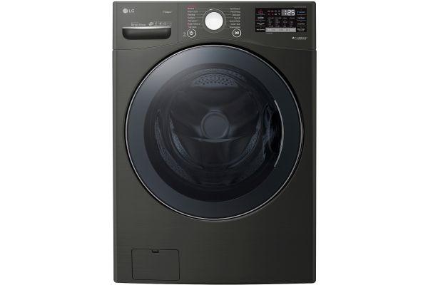 LG 4.5 Cu. Ft. Black Steel Front Load Steam Washer - WM3900HBA