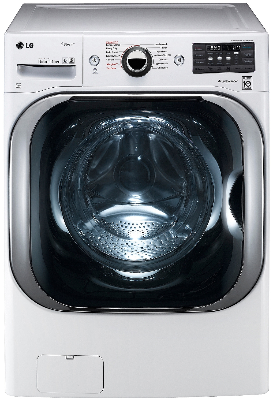 Lg White Front Load Steam Washer Wm8100hwa
