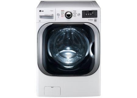 LG White Front Load Steam Washer - WM8100HWA