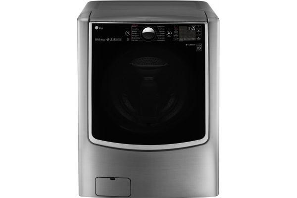 Large image of LG Mega Capacity Graphite Steel Front Loading Steam Washer - WM9000HVA