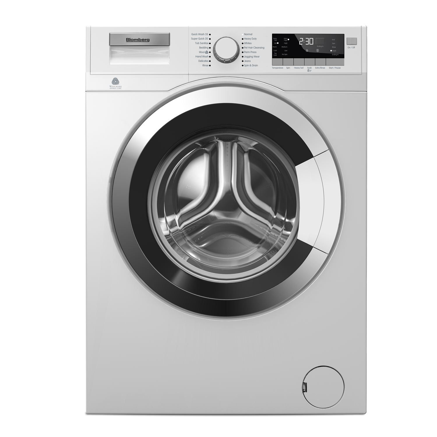 Blomberg 2 5 Cu Ft Front Loading Washer Wm98400sx