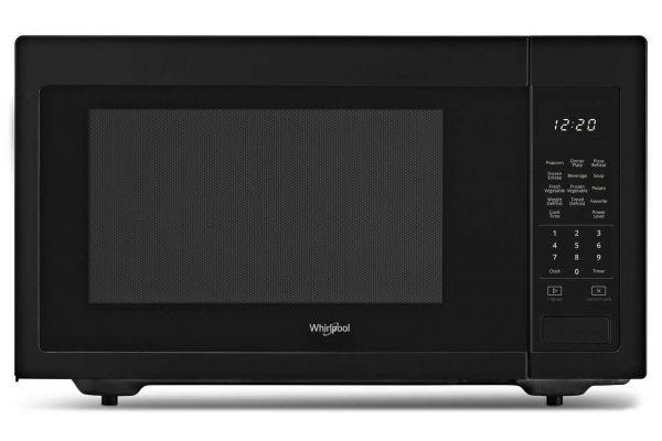 Large image of Whirlpool 1.6 Cu. Ft. Black Countertop Microwave - WMC30516HB