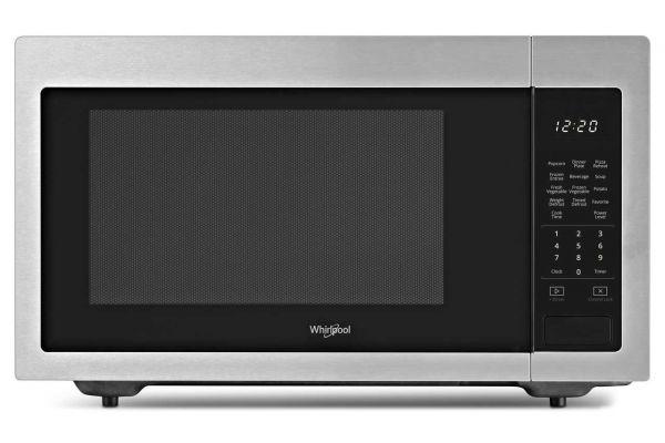 Large image of Whirlpool 1.6 Cu. Ft. Fingerprint-Resistance Stainless Steel Countertop Microwave - WMC30516HZ