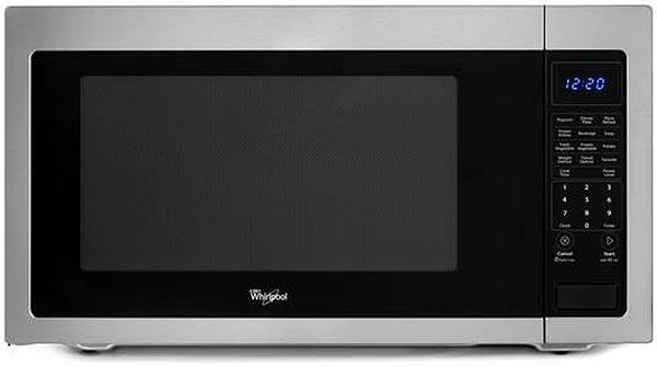Countertop Microwave Installation : Whirlpool Stainless Steel Countertop Microwave WMC50522AS