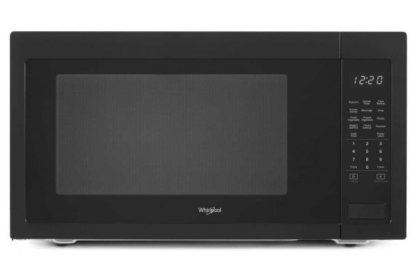 Large image of Whirlpool 2.2 Cu. Ft. Black Countertop Microwave - WMC50522HB