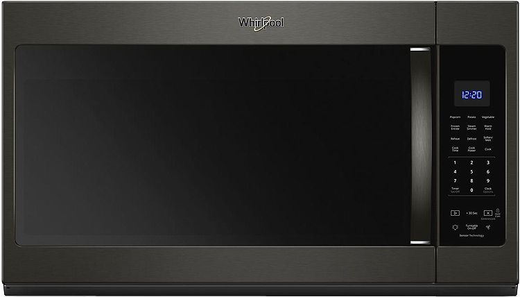 Whirlpool Print Resist Black Stainless Steel Over The Range Microwave Hood Combination Wmh32519hv