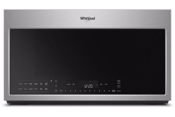 Whirlpool Fingerprint Resistant Stainless Steel Over-The-Range Microwave Hood Combination - WMH78019HZ