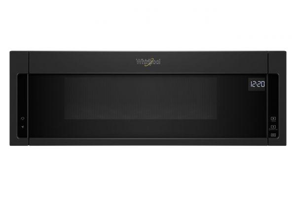Whirlpool 1.1 Cu. Ft. Black Low Profile Microwave Hood Combination - WML55011HB