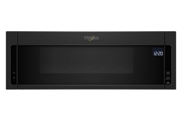 Large image of Whirlpool 1.1 Cu. Ft. Black Low Profile Microwave Hood Combination - WML75011HB