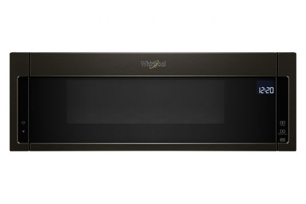 Large image of Whirlpool 1.1 Cu. Ft. Black Stainless Steel Low Profile Microwave Hood Combination - WML75011HV