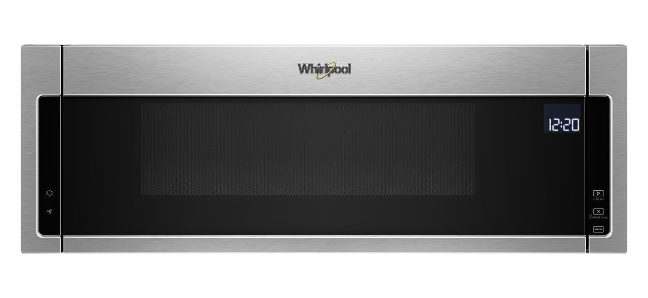 Whirlpool 1 Cu Ft Fingerprint Resistant Stainless Steel Low Profile Microwave Hood Combination Wml75011hz
