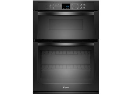 Whirlpool 5.0 Cu. Ft. Black Combination Microwave Wall Oven with SteamClean - WOC54EC0AB