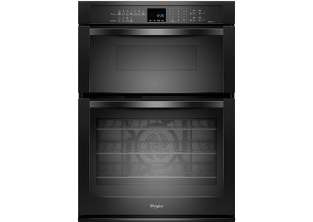 "Whirlpool 30"" Black Combination Microwave Electric Wall Oven - WOC95EC0AB"