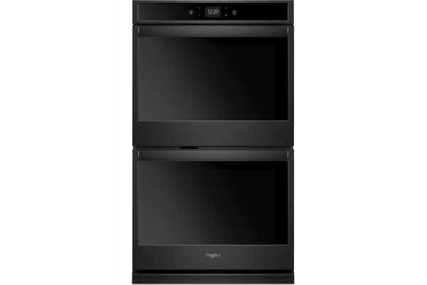 """Large image of Whirlpool 27"""" Black Smart Double Electric Wall Oven - WOD51EC7HB"""
