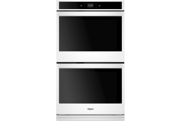 "Large image of Whirlpool 27"" White Smart Double Electric Wall Oven - WOD51EC7HW"