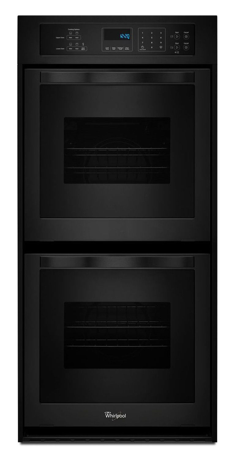 Whirlpool 24 Quot Black Electric Double Wall Oven Wod51es4eb