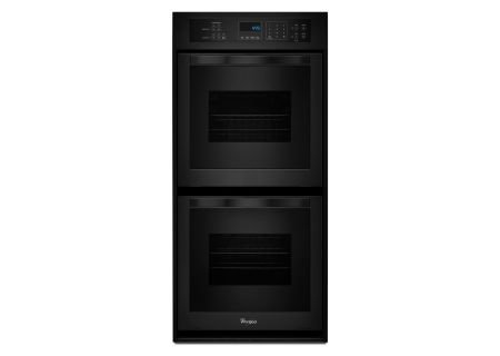 "Whirlpool 24"" Black Electric Double Wall Oven - WOD51ES4EB"