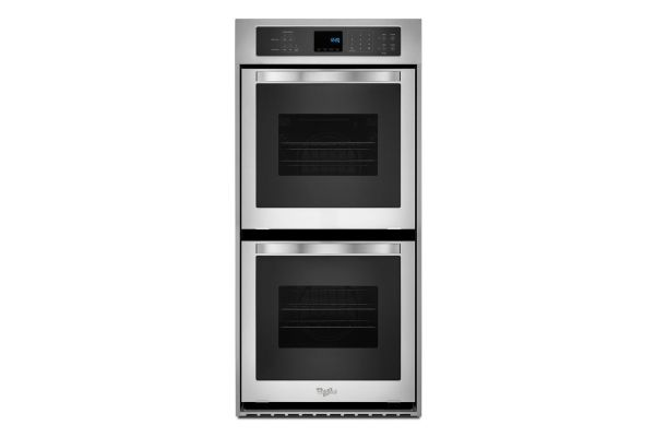 """Whirlpool 24"""" Stainless Steel Electric Double Wall Oven - WOD51ES4ES"""