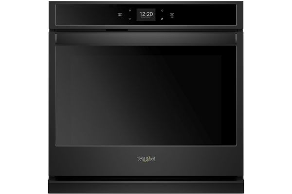 "Whirlpool 30"" Black Smart Single Electric Wall Oven - WOS51EC0HB"