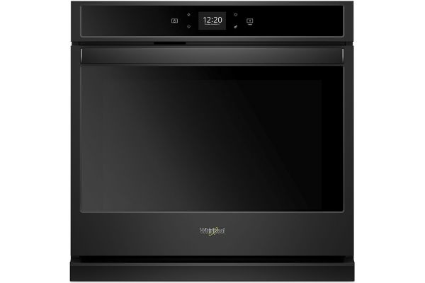 """Whirlpool 27"""" Black Smart Single Electric Wall Oven - WOS51EC7HB"""