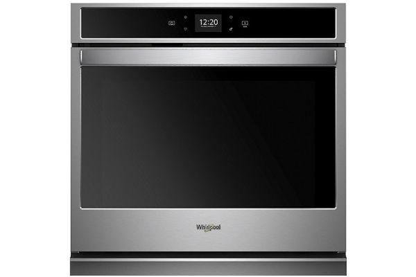 """Whirlpool 27"""" Stainless Steel Single Electric Wall Oven - WOS51EC7HS"""