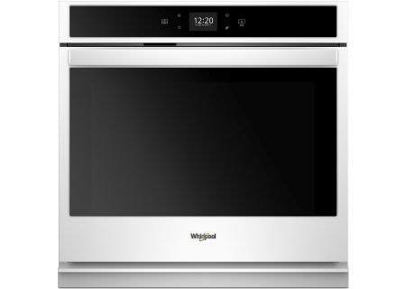 "Whirlpool 27"" White Smart Single Electric Wall Oven - WOS51EC7HW"