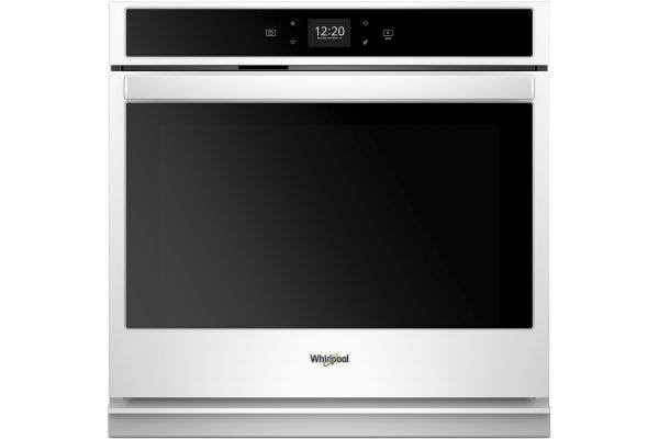 """Large image of Whirlpool 27"""" White Smart Single Electric Wall Oven - WOS51EC7HW"""