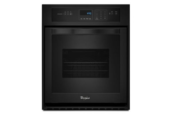 Large image of Whirlpool 3.1 Cu. Ft. Black Single Wall Oven - WOS51ES4EB