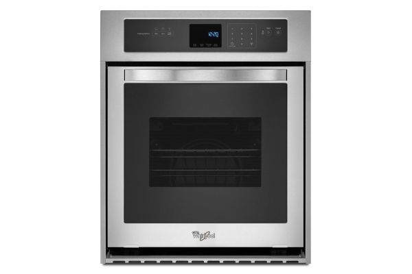 Large image of Whirlpool 3.1 Cu. Ft. Stainless Steel Single Wall Oven  - WOS51ES4ES