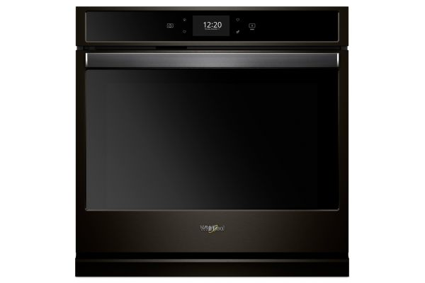 """Whirlpool 27"""" Black Stainless Single Electric Wall Oven - WOS72EC7HV"""