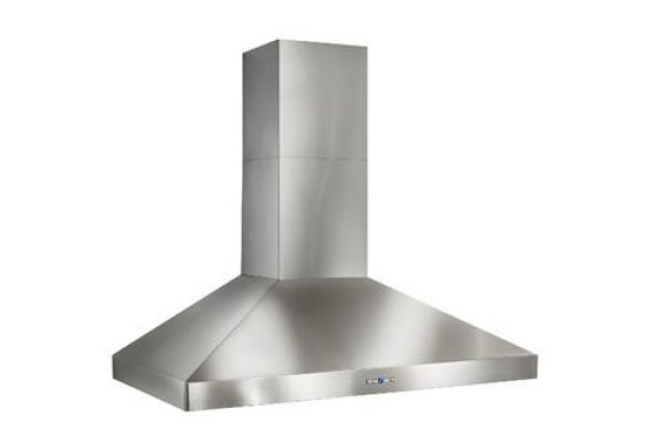 "Large image of Best Colonne 36"" Stainless Steel Chimney Range Wall Hood  - WPP9E36SB"