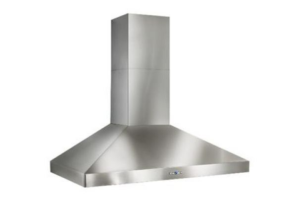 "Large image of Best Colonne 42"" Stainless Steel 600 CFM Chimney Range Wall Hood  - WPP9IQ42SB"