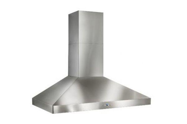 "Large image of Best Colonne 42"" Stainless Steel 1200 CFM Chimney Range Wall Hood  - WPP9IQT42SB"