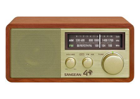 Sangean AM/FM Gold Analog Wooden Cabinet Receiver - WR-11SE