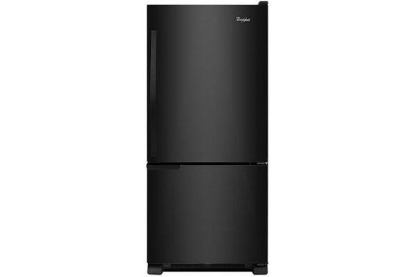 Whirlpool Black Bottom-Freezer Refrigerator - WRB119WFBB