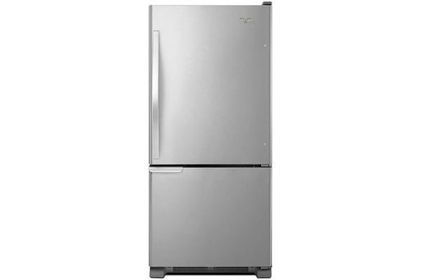 Large image of Whirlpool Stainless Steel Bottom-Freezer Refrigerator - WRB119WFBM