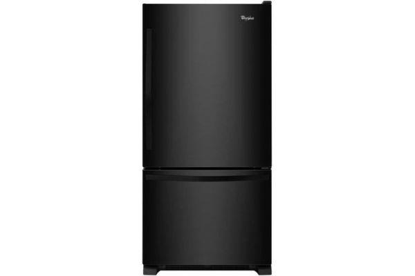 Whirlpool Black Bottom Freezer Refrigerator - WRB322DMBB